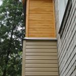 Обшика балкона сайдингом