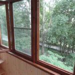Финские окна на балконе