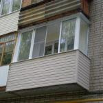 Балкон с алюминиевыми рамами
