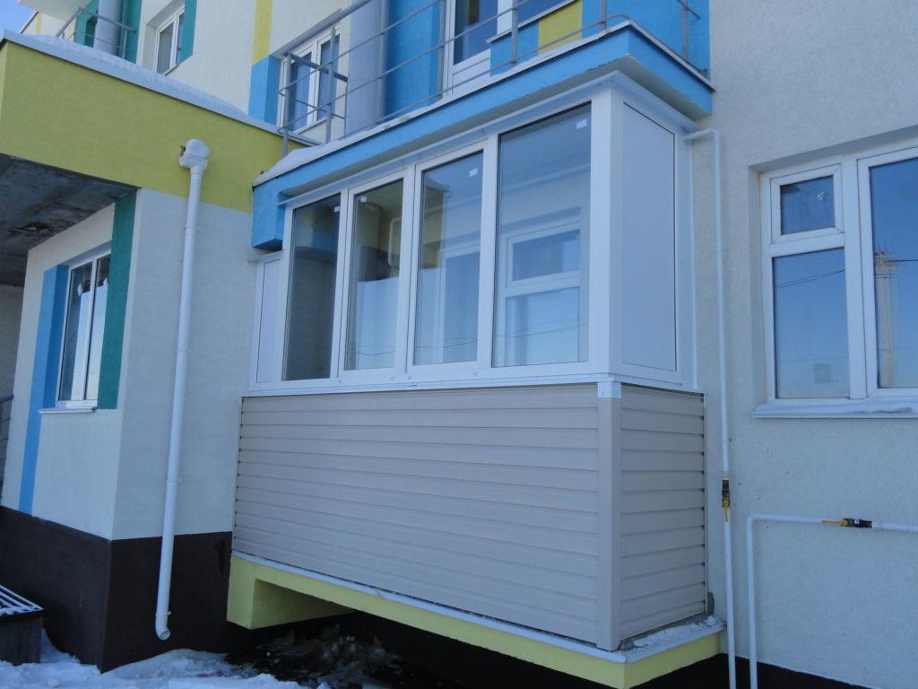 Остекление балкона в ЖК Окский берег